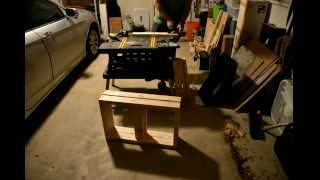 Playing with wood - dog box bench build