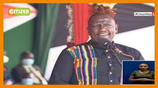 DP Ruto enchants crowd at Jomo Kenyatta International Stadium with Dholuo pick-up lines