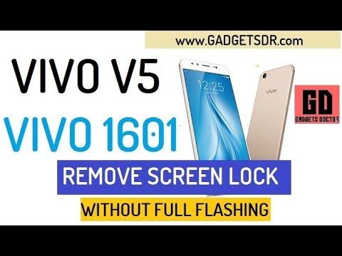 Remove Pattern Lock Vivo V5 (Vivo 1601)