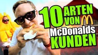 10 ARTEN VON McDonalds KUNDEN I McDonald's Roulette