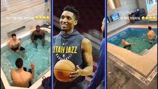 Donovan Mitchell Clowns Teammates In Pool Exercise
