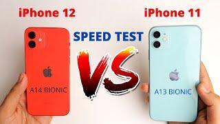 iPhone 12 vs iPhone 11 Speed Test | A13 bionic vs A14 Bionic Speed Test ( Hindi )