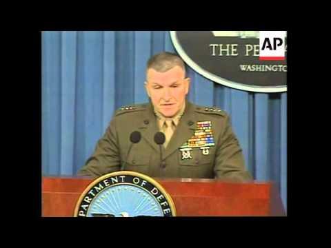 USA: WASHINGTON: GENERAL ANTHONY ZINNI IRAQ PRESS CONFERENCE