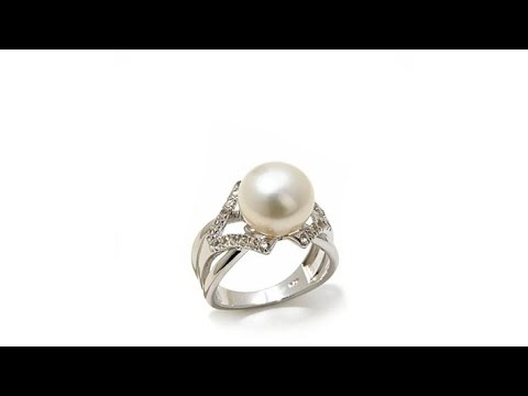 Imperial Pearls 10.511mm Cultured Pearl And Topaz Ring