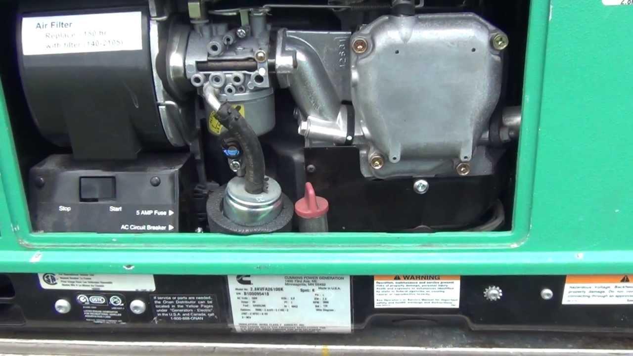 110v Breaker Box Wiring Diagram Onan 2800 Microlite Test Running Youtube