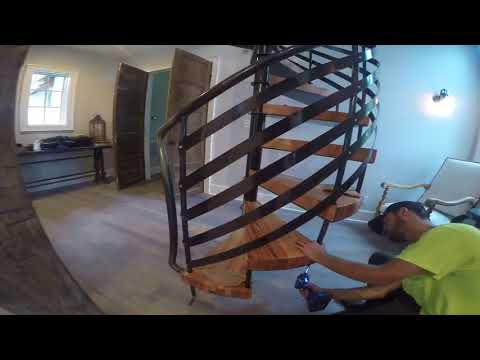 Metal Spiral Staircase - Custom build by Fluid Motion Fabrication