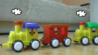 The Longest Toy Train for children | Собираем Самый Длинный Поезд для детей