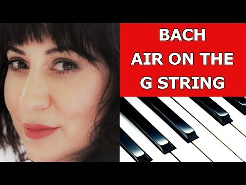 Bach Air On the G String Easy Piano/Sheet Music