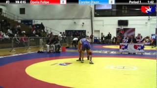 2012 DSMI WM 48 KG: Opelia Felipe (UC Women`s Wrestling) vs. Coralee Dixon (Canada)