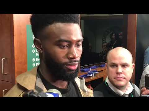 Jaylen Brown on Boston Celtics Game 1 win, Jayson Tatum: 'That's a hell of a player'