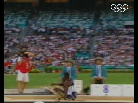 Carl Lewis Wins Dramatic Long Jump - Atlanta 1996 Olympics