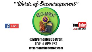 """Mt. Vernonite Weekly Recharge"" 🙏🏾🔌 10/22/2020"