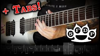 Five FInger Death Punch - Stuck in My Ways (Guitar Cover w/Solo & Tabs)