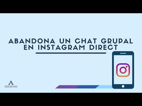 ¿Cómo abandono una conversación en grupo en Instagram Direct?