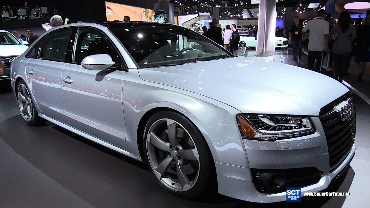 2017 audi a8l 4 0t quattro exterior and interior walkaround 2016 la auto show youtube. Black Bedroom Furniture Sets. Home Design Ideas