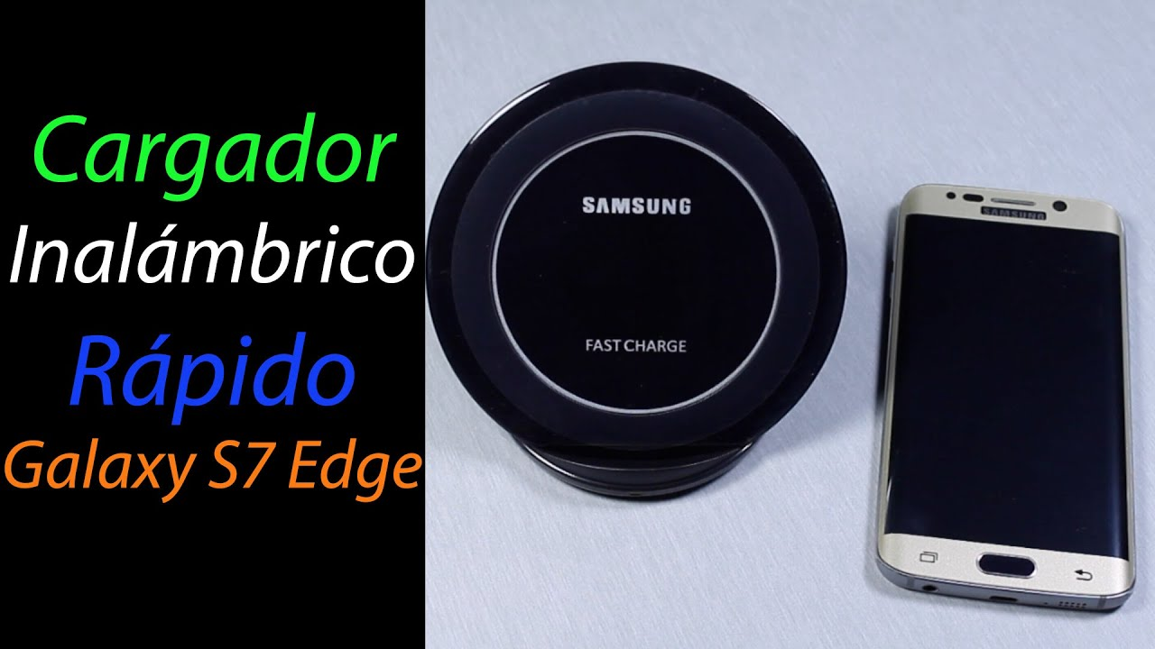 Plus ACTECOM/® Cargador INALAMBRICO QI Negro Compatible para Samsung Galaxy S8 S8 Edge