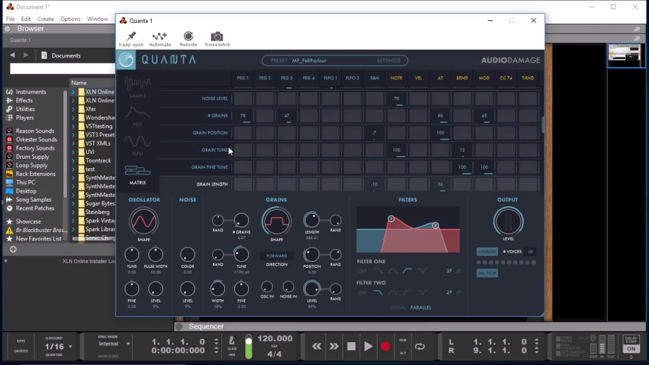 QUANTA - Granular Synthesis Re-Imagined - VST Demo - Coming To iOS Soon