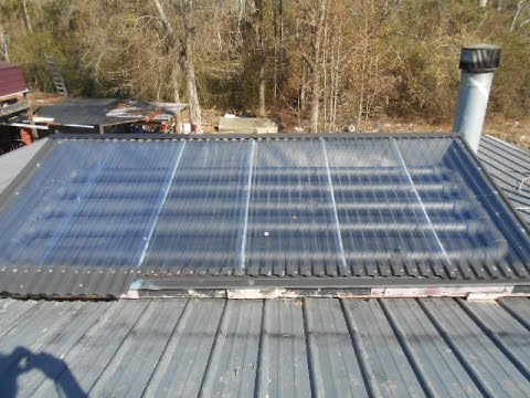 Solar hot water collector, Free hot water, Doomsday preppers