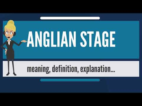What is ANGLIAN STAGE? What does ANGLIAN STAGE mean? ANGLIAN STAGE meaning & explanation