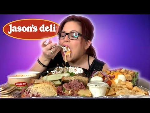 Jason's Deli!! Big Deli Sandwiches, Loaded Baked Potato, Loaded Salad, And Soup! (MESSY)💋