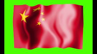 Republic of China Flag Green Screen - Free Royalty Footage