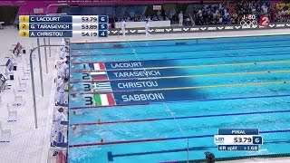VIDEO. Camille Lacourt champion d'Europe du 100m dos