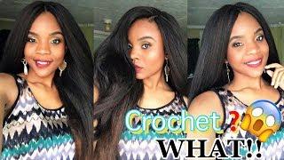 Is This Crochet Or Sew-in? 😱 |Knotless Crochet Braid using Ezbraid Braiding Hair | KinkyStraight