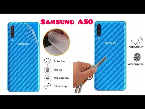 How To Install Carbon Sticker Skin For Samsung A50