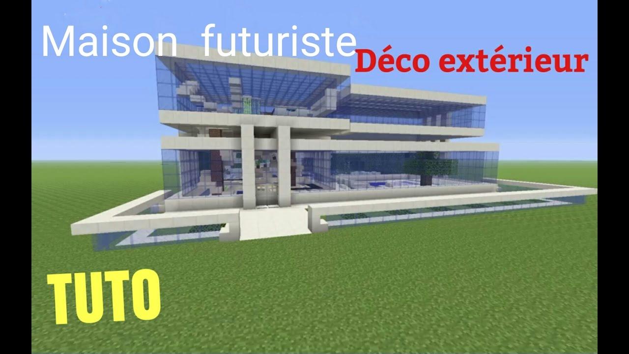 tuto minecraft maison futuriste d co ext rieur ps4 ps3 xbox360 xboxone psvita youtube. Black Bedroom Furniture Sets. Home Design Ideas