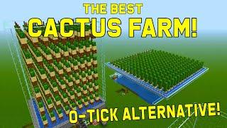 Best Cactus Farm Design 1.16 - 0-TICK ALTERNATIVE | Best, Easy Minecraft Farms