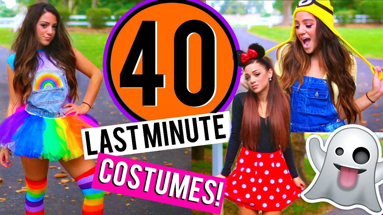 381b74e58 40 Last-Minute DIY Halloween Costumes! Niki and Gabi - YouTube