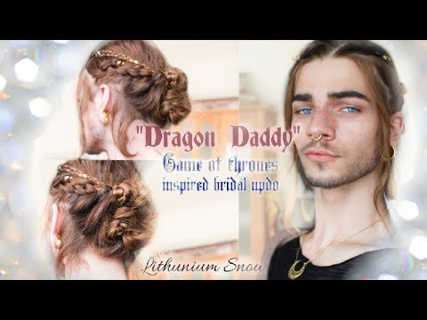 "HAIR TUTORIAL || ""Dragon Daddy"" bridal hair - Lithunium snow"