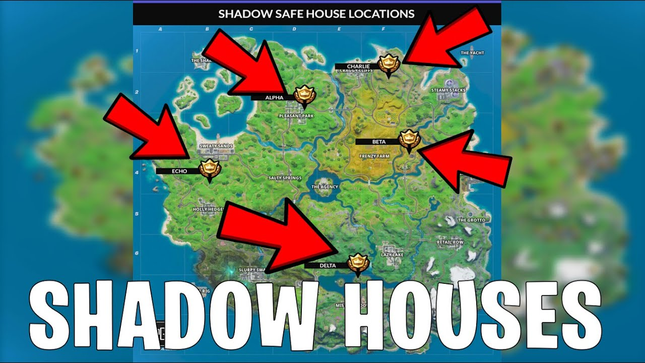Where To Find 5 Shadow Safe Houses How To Tutorial Guide Fortnite Chapter 2 Week 2 Challenges Youtube