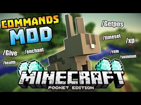 COMMANDS MOD IN 0.13.0!!! - Give, Summon, Rain & MORE - Minecraft PE (Pocket Edition)