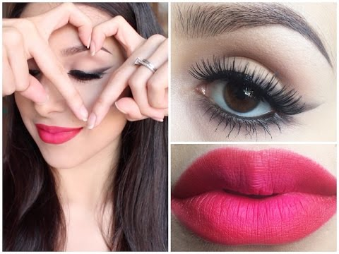 Smokey Liner + Red Ombre Lip ♡ Valentine's Day Tutorial ♡ Collab w/ Style Collective