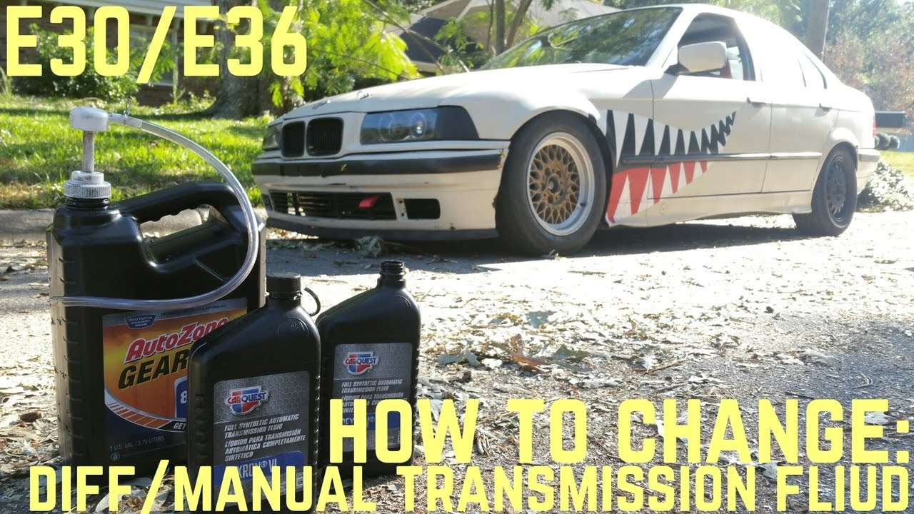 differential manual transmission fluid change diy e30 e36 youtube rh youtube com E34 Manual Transmission Fluid Manual Transmission Fluid 2001 325Ci
