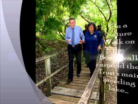 President of the Republic of Trinidad & Tobago, visits the PaP Wildfowl Trust