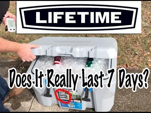 Lifetime Products 55 Qt Cooler Ice Retention Test, $100 Cooler, How Long Does It Last?