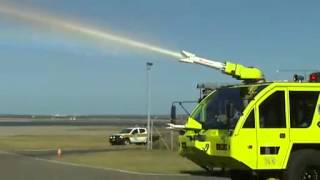 Sydney Airport shows off new fire trucks