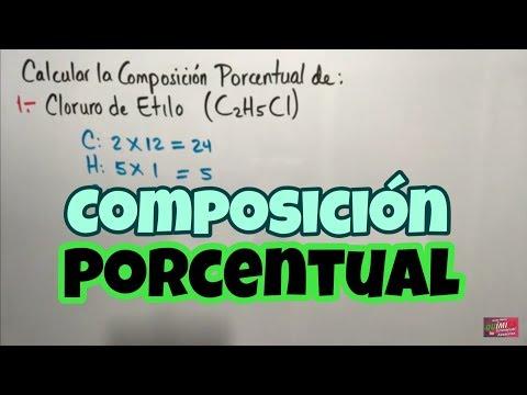 Composición Porcentual De Compuestos Químicos (Parte 1)