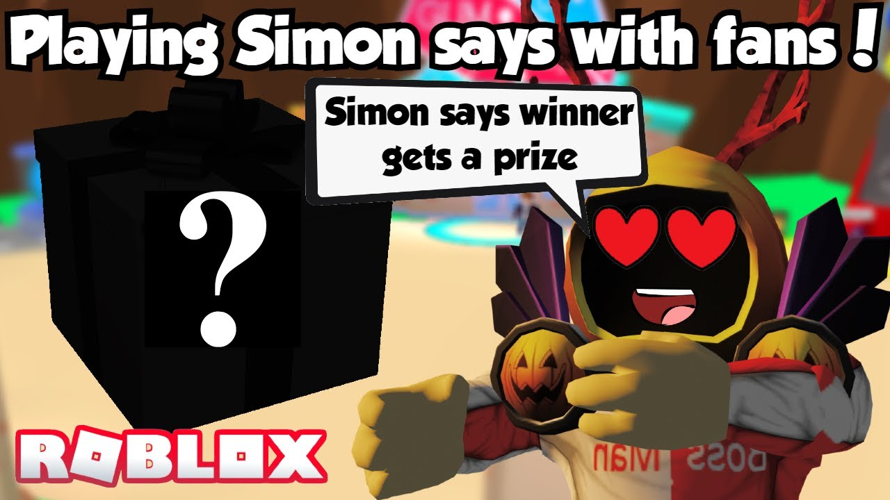 SIMON SAYS WITH FANS :o WINNER GETS A PRIZE! ROBLOX BUBBLE GUM SIM !