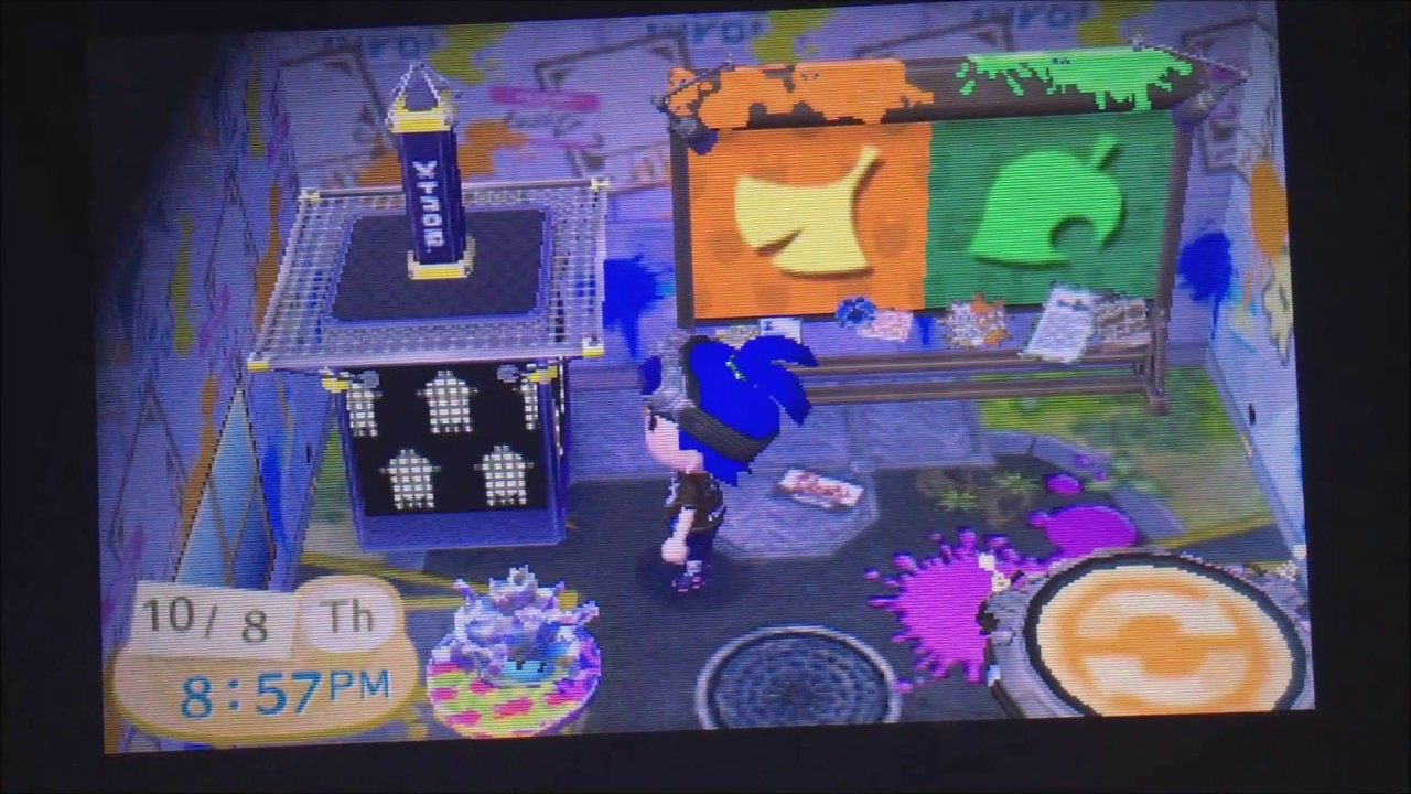 Animal Crossing New Leaf Splatoon And Zelda Furniture Set Codes