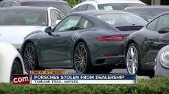 Three cars stolen from Porsche dealership in Southwest Florida