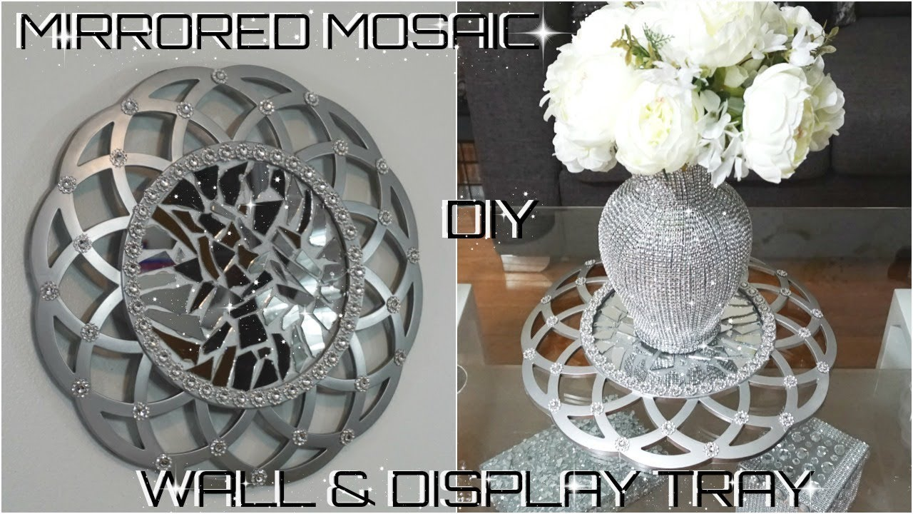 Diy Dollar Store Glam Mosaic Mirror Decor Diy Home