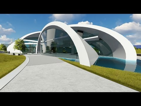 Google futuristic modern building concept youtube for Concept building