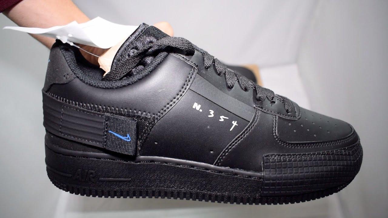 The NikeAir force 1 Type N 354 Black Unboxing