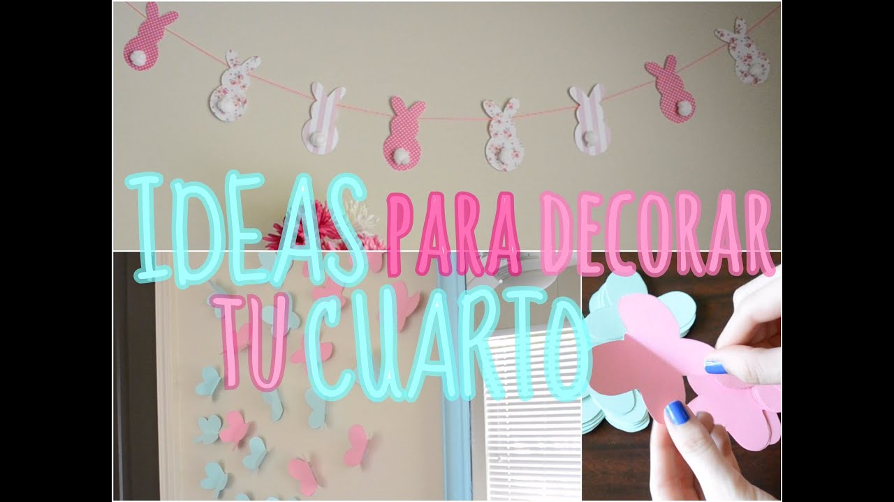 Ideas para decorar tu cuarto trillizas triplets youtube for Manualidades para decorar tu cuarto