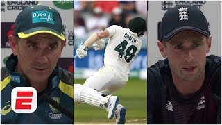 steve smith injured justin langer and chris woakes reflect on scary moment the ashes 2019