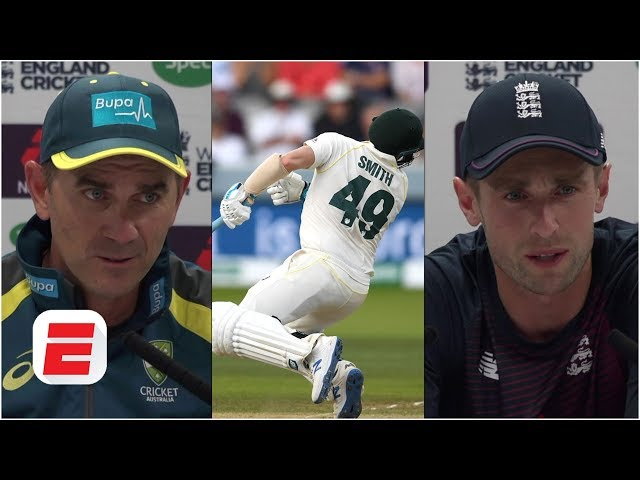 Steve Smith injured: Justin Langer and Chris Woakes reflect on scary moment | The Ashes 2019
