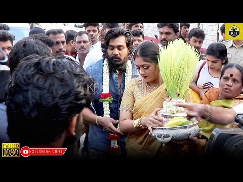 Dhruva Sarja Entry To Engagement Place In Mass Look | Dhruva Sarja Engagement | Action Prince Dhruva